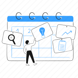 milestone, product, tasks, calendar, planning, search, idea