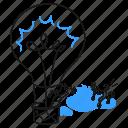 solving, problem, product, solution, idea, light, bulb icon