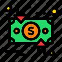 charge, circulation, cycle, dollar, down