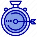 launch, management, optimization, release, stopwatch icon