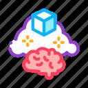 brain, business, cloud, manager, parcel, product, work