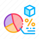 business, chart, manager, parcel, percentage, product, work