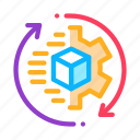 aspect, business, manager, product, sending, technical, work icon