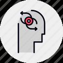 awareness, brain, involvement, mind icon