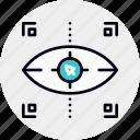 click, emotional, eye, targeting icon