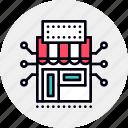 communications, integrated, marketing, marketplace, platform icon