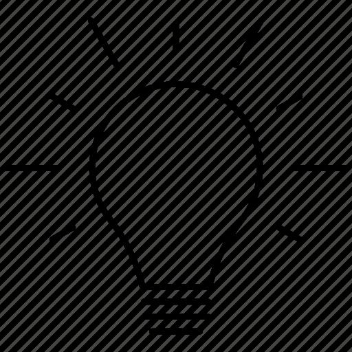 bright, bulb, electricity, idea, light icon