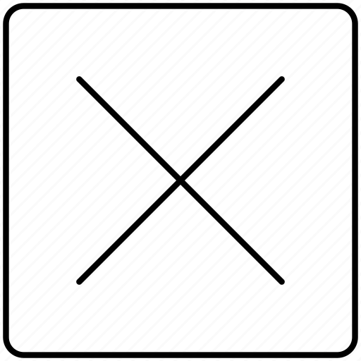 close, delete, done, remove, x icon