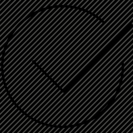 check, checkmark, complete, done, select icon