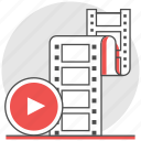 clip, film, movie, production, vdo, video icon