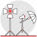 film, illumination, maker, movie, production, spotlight, stage light icon