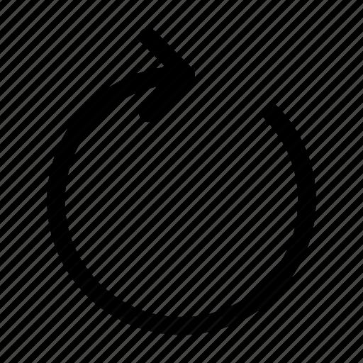 refresh, reload, retate, rotate, sync icon
