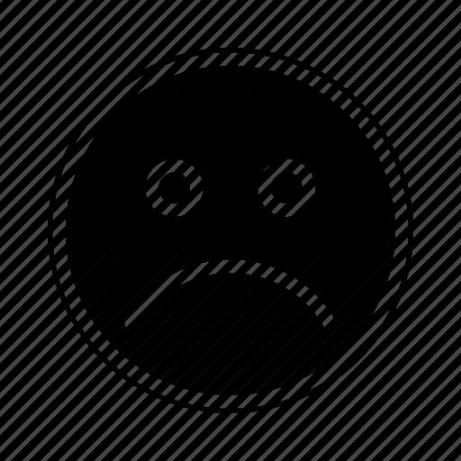 emoji, emoticon, emotion, expresion, face, unhappy icon