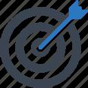 arrow, aspirations, bullseye, business goal, darts, efficiency, goal, target icon
