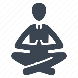 businessman, lotus position, meditation, relax, yoga icon