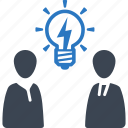 brainstorming, business idea, team, teamwork icon