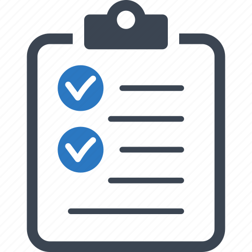 business tasks, check mark, checklist, to do list icon