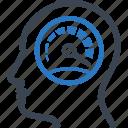 speedometer, work performance, productivity, speed icon