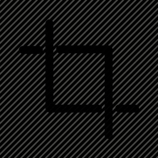 crop, cut, reduce, scissor icon