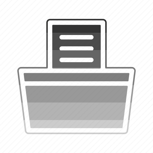 fax, machine, printing icon