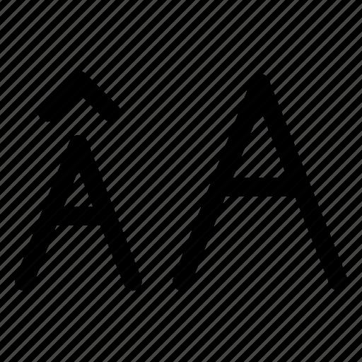 alphabet, increase icon