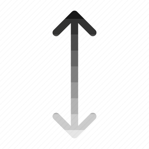 arrow, distance, down, move, up icon