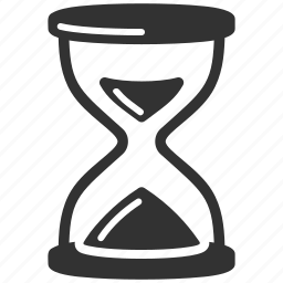 hourglass, sand clock, timer icon