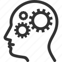 brainstorming, gear, productivity icon