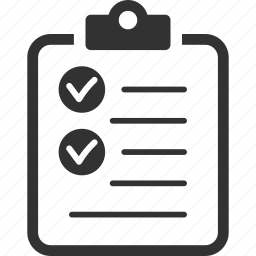 check mark, checklist, tasks, to do list icon