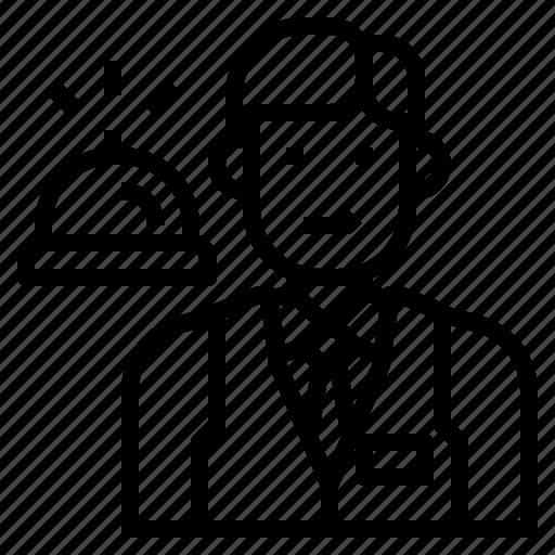 avatar, desk, front, occupation, person, receptionist, uniform icon