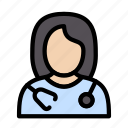 doctor, female, professional, avatar, girl