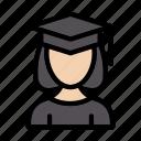 female, graduation, girl, women, student