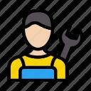 mechanical, avatar, engineer, worker, man