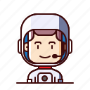 astronaut, avatar, cosmonaut, space icon