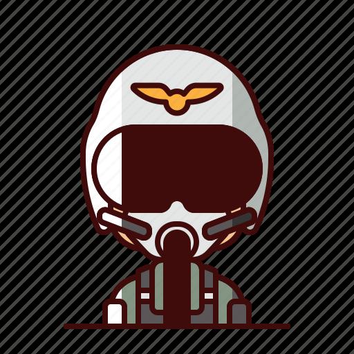 avatar, jet, pilot icon