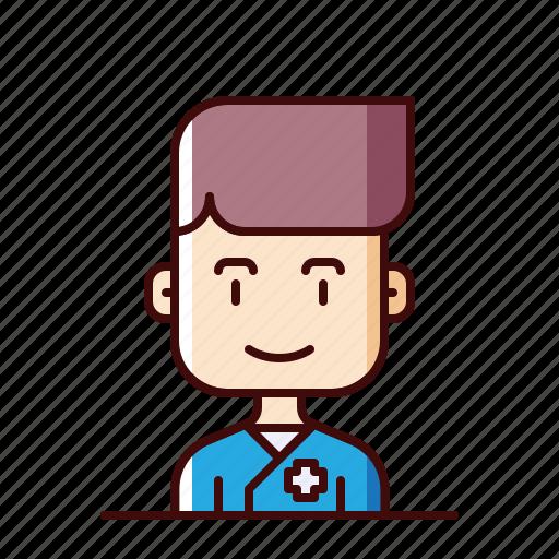 avatar, cross, nurse icon
