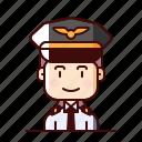 aeronaut, avatar, female, pilot icon
