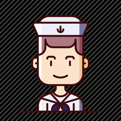 avatar, marine, sailor icon