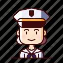 avatar, female, marine, sailor
