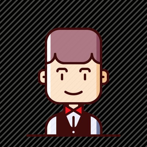 avatar, steward, waiter icon