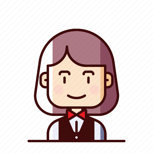 avatar, stewardess, waitress icon