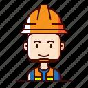 avatar, labourer, worker icon