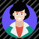 administrator, director, executive, female manager, supervisor icon