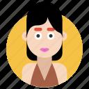 avatar, female, girl, lady, woman icon