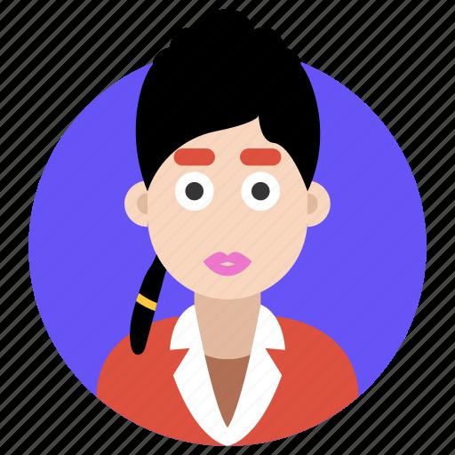 avatar, female, girl, stylish girl, stylish lady icon
