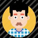 avatar, boy, gentleman, male, man, moustache man icon
