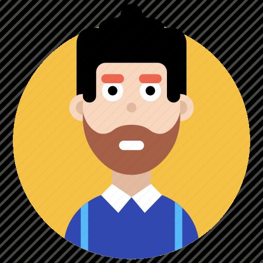 avatar, beard man, beard person, male, masculine icon