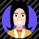 adult woman, avatar, female, girl, lady icon