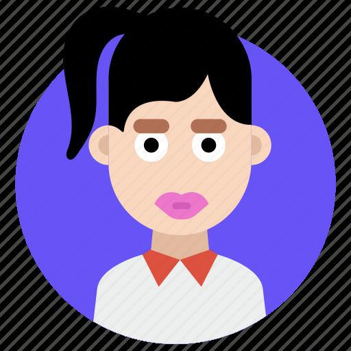 avatar, female, girl, teenage icon