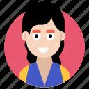 avatar, female, feminine, gentlewoman, girl, woman icon